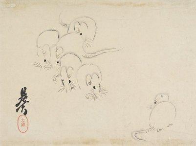 柴田是眞: White Mice - ミネアポリス美術館