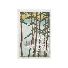 川瀬巴水: Haru no Arashiyama (Spring in Arashiyama) - ミネアポリス美術館