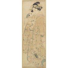 勝川春扇: (Woman Holding a Doll) - ミネアポリス美術館
