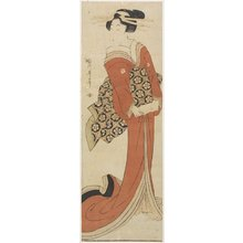 Kikugawa Eizan: (Woman Holding a Roll of Paper) - Minneapolis Institute of Arts