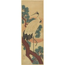 Utagawa Hiroshige: (Crane on Pine Branch) - Minneapolis Institute of Arts