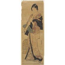 歌川豊国: (Woman Disguised as a Mendicant Priest) - ミネアポリス美術館