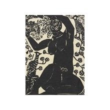 棟方志功: Untitled (Seated Nude Female with Birds) - ミネアポリス美術館