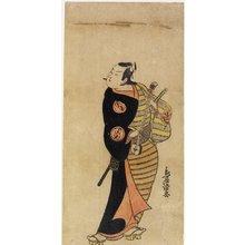 鳥居清忠: Ichimura Takeno jo IV as Kichisaburo - ミネアポリス美術館