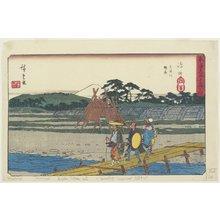 歌川広重: Suruga Bank of Oi River at Shimada - ミネアポリス美術館