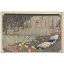 Utagawa Hiroshige: Spring Rain, Tsuchiyama - Minneapolis Institute of Arts