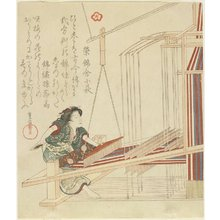 Yanagawa Shigenobu: Woman Weaving - Minneapolis Institute of Arts