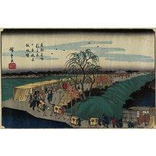 Utagawa Hiroshige: Dawn at Emonzaka Hill in Nihon-zutsumi Bank, Shin-Yoshiwara - Minneapolis Institute of Arts