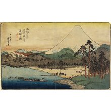 Utagawa Hiroshige: Ferry Boats at Fuji River in Sunshu Province - Minneapolis Institute of Arts