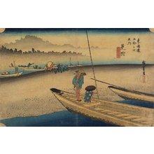 歌川広重: Tenryu River View, Mitsuke - ミネアポリス美術館