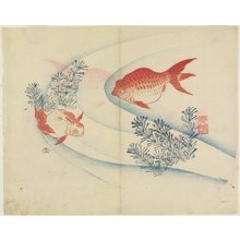 Yamada Ho_gyoku: (Two Goldfish in Water) - ミネアポリス美術館