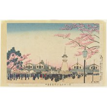 小林清親: Main Gate of the Second Exposition at Tokyo - ミネアポリス美術館