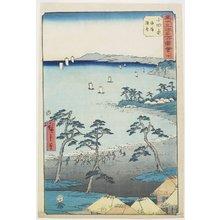 歌川広重: No.10 Fishermans House on a Beach, Odawara - ミネアポリス美術館