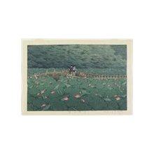 川瀬巴水: Benten Pond at Shiba - ミネアポリス美術館