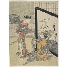 Suzuki Harunobu: Getting Dressed - Minneapolis Institute of Arts
