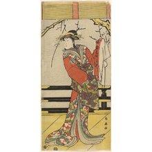 勝川春英: Nakayama Tomisaburo as Matsushima - ミネアポリス美術館