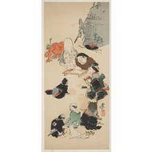 Shibata Zeshin: Gathering of Otsu-e Characters - Minneapolis Institute of Arts