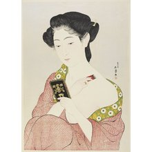 Hashiguchi Goyo: Woman Applying Makeup - Minneapolis Institute of Arts