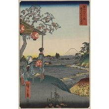 Utagawa Hiroshige: At a Teahouse in Zoshigaya, Edo - Minneapolis Institute of Arts