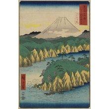 歌川広重: Lake Hakone - ミネアポリス美術館