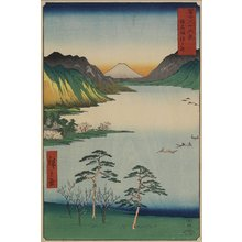 Utagawa Hiroshige: Lake Suwa in Shinano Province - Minneapolis Institute of Arts