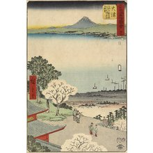 Utagawa Hiroshige: No.54 City View of Otsu Seen from Mii Temple, Otsu - Minneapolis Institute of Arts