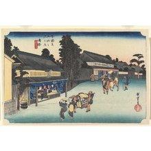 歌川広重: Famous Cloth of Arimatsu, Narumi - ミネアポリス美術館