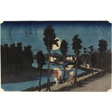Utagawa Hiroshige: Dusk scene, Numazu - Minneapolis Institute of Arts