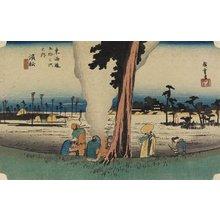 歌川広重: Winter Scene, Hamamatsu - ミネアポリス美術館
