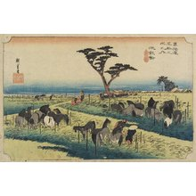 Utagawa Hiroshige: April Horse Fair, Chiryu - Minneapolis Institute of Arts