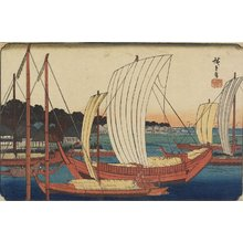Utagawa Hiroshige: (Sailing Boats by Beach) - Minneapolis Institute of Arts