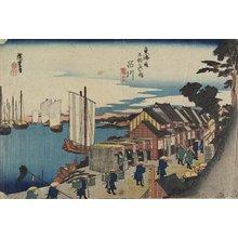 歌川広重: Daimyo's Departure--Shinagawa - ミネアポリス美術館