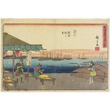 Utagawa Hiroshige: Morning Scene in Samezu, Shinagawa - Minneapolis Institute of Arts