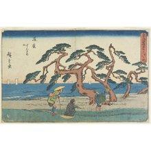 歌川広重: The Pine Field in Hamamatsu - ミネアポリス美術館