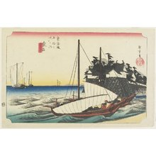 Utagawa Hiroshige: Ferry Gate of Shichiri, Kuwana - Minneapolis Institute of Arts