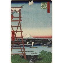 Utagawa Hiroshige: Motoyanagi Bridge and Ekoin Temple in Ryogoku - Minneapolis Institute of Arts