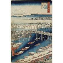 歌川広重: Clear Weather After Snow, Nihonbashi Bridge - ミネアポリス美術館