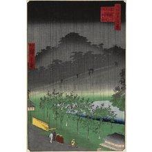 二歌川広重: Evening View, Paulownia Plantation at Akasaka in Downpour - ミネアポリス美術館