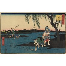 歌川広重: Village by the Tamagawa River - ミネアポリス美術館