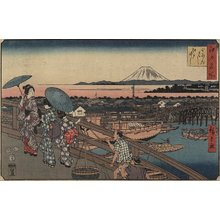 歌川広重: Nihonbashi Bridge and Edo Bridge - ミネアポリス美術館