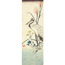 Utagawa Hiroshige: (Pampas Grass, Patrinia, Chinese Bellflower and a Crane) - Minneapolis Institute of Arts