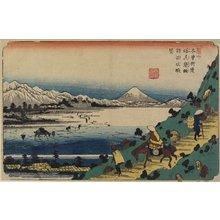 渓斉英泉: No.31 Distant Veiw of Lake Suwa as Seen From Shiojiri Pass - ミネアポリス美術館