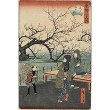 二歌川広重: Plum Trees at Kameido - ミネアポリス美術館
