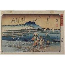 歌川広重: Jewel River of Noda in Mutsu Province - ミネアポリス美術館