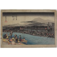 Utagawa Hiroshige: Cool of the Evening at Shijo Riverbank - Minneapolis Institute of Arts
