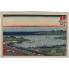 歌川広重: Niigata in Echigo Province - ミネアポリス美術館