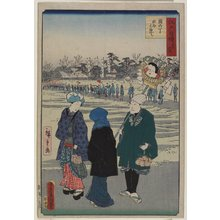 Utagawa Hiroshige II: Shrine Fair on the Days of the Rooster - Minneapolis Institute of Arts