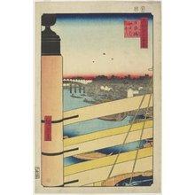 歌川広重: Edo-bashi Bridge from Nihon-bashi - ミネアポリス美術館