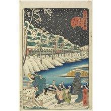 歌川広景: No.14 Snow on Akabane Bridge in Shiba - ミネアポリス美術館