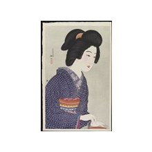 Takahashi Hiroaki: Woman Sitting by a Brazier - Minneapolis Institute of Arts